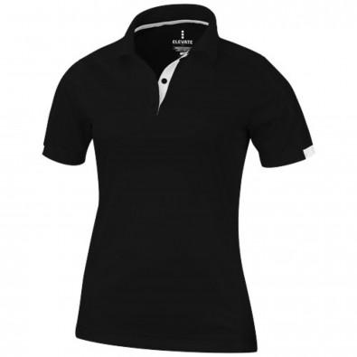 Kiso – Poloshirt cool fit für Damen, schwarz, XS