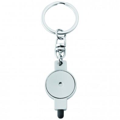 2-in-1 Schlüsselanhänger Shop smart, Silber