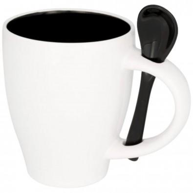 Nadu 250 ml Tasse mit Löffel, schwarz