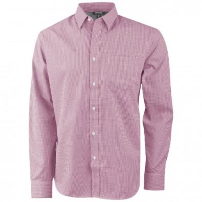 Net Langarm Hemd, rot, XXL