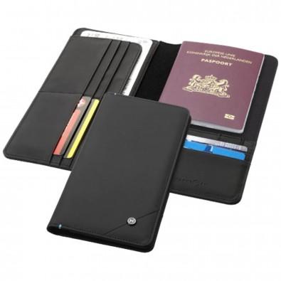 Odyssey RFID Reisebrieftasche, schwarz