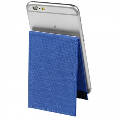 Premium RFID-Telefontasche mit Ständer, royalblau