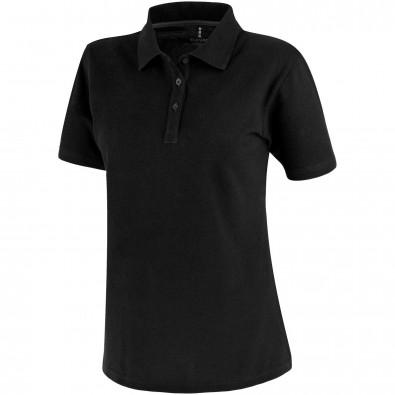 Primus Damen Poloshirt, schwarz, S