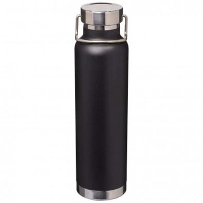 Thor 650 ml Kupfer-Vakuum Isolierflasche, schwarz