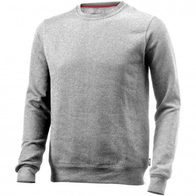 Toss Sweat Shirt mit Rundhalsausschnitt, grau meliert, XXL