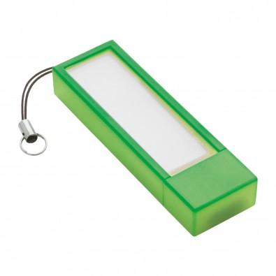 USB-Speicherstick REFLECTS-USB + NOTES, hellgrün, 4 GB