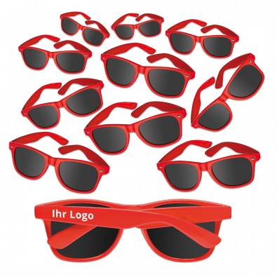 """""""Werbe-Sparset Sonnenbrille """"""""Sunshine"""""""", 60-tlg., Rot"""""""