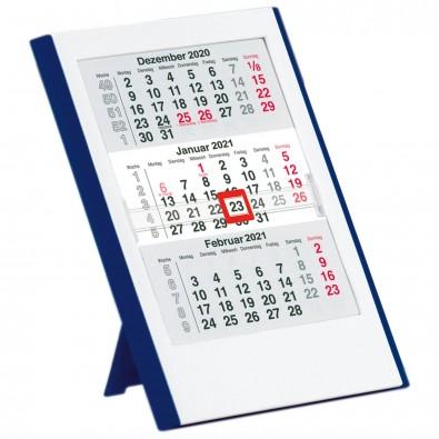 2-Jahres-Kalender 6-sprachig 2021/2022, Weiß/Blau