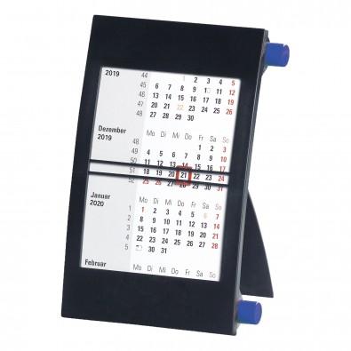 2-Jahres-Tischkalender 2020/2021, schwarz/blau